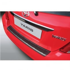 rear guard bumper protector Yaris 3/5 door Sep 2011 to Aug 2014