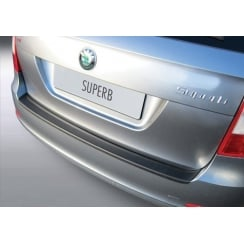 Skoda Superb estate rear bumper protector 2013 to 2015