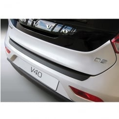 Volvo V40 black rear bumper protector from June 2012>