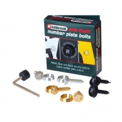 anti theft number plate bolts (Yellow,Silver,Black)
