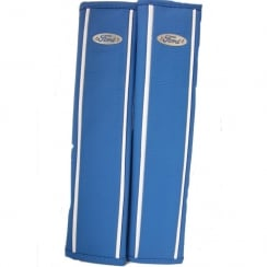 fine blue leather Ford seat belt harness pads
