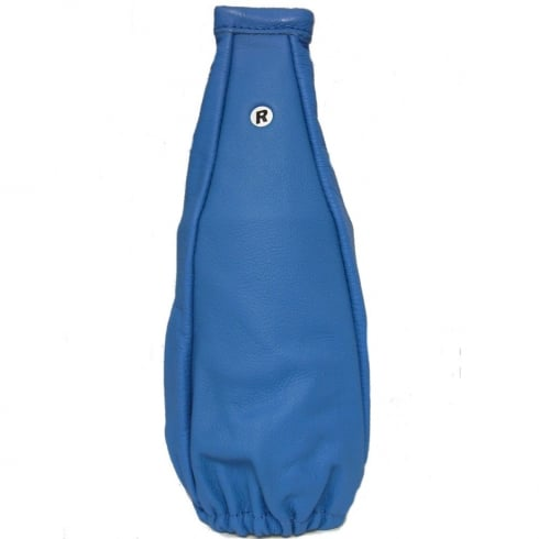 fine blue leather gear shaft gaiter