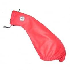 fine red leather hand brake gaiter