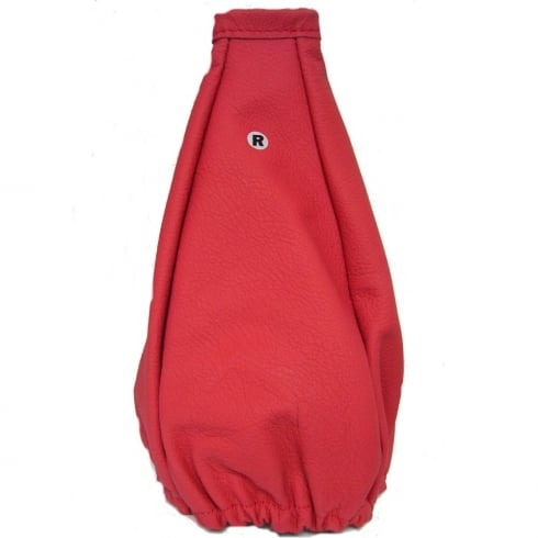 italian red leather universal gear shaft gaiter