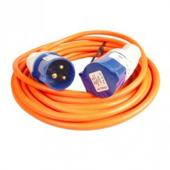 240V 25 metre caravan mains extension cable lead with plugs