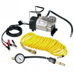 heavy duty air compressor with tyre accessories and storage bag