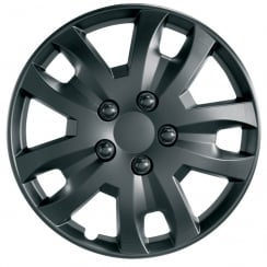 JET 13 inch matt black car wheel trim set