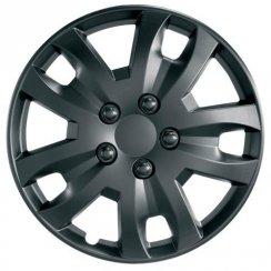 JET 14 inch Jet matt black car wheel trim set