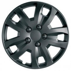 JET 15 inch matt black car wheel trim set