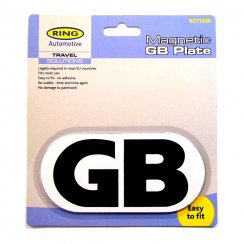 Magnetic GB plate for european travel