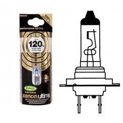 pair of Xenon Ultima +120 halogen H7 headlight bulbs