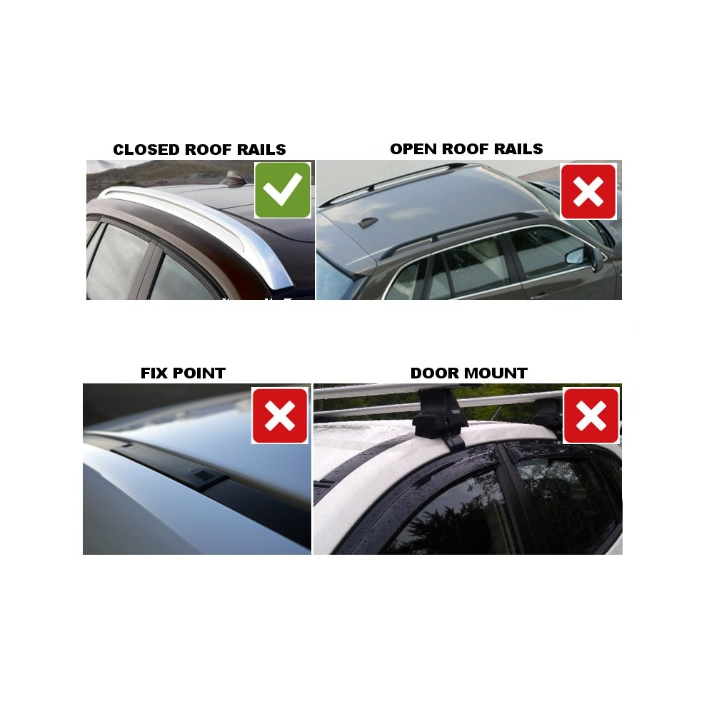 Thule Roof Bars Bmw 5 Series Touring Bar System For 2010 With Closed Rails