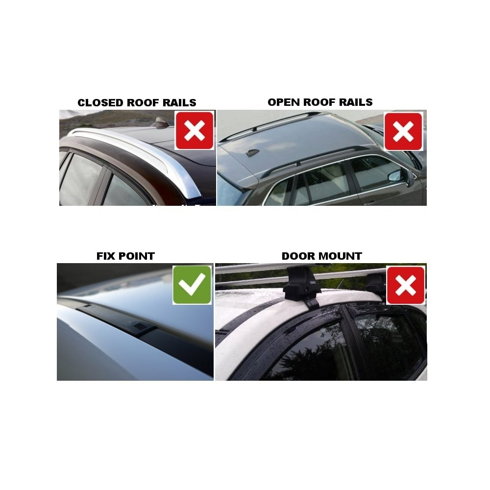 thule roof bars for peugeot 5008 5 door mpv 2009> (without