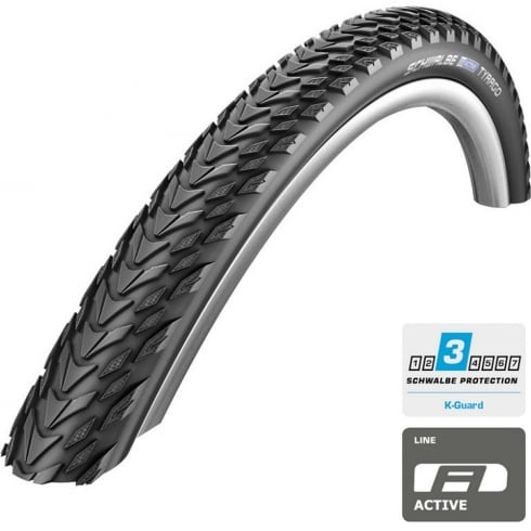Tyrago 700 x 40c kevlar guard bike tyre