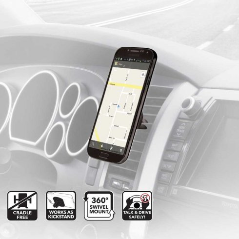 Scosche magnetic car vent mount for smart phone or Sat Nav