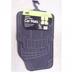 Set of 4 rubber car mats - universal fitment
