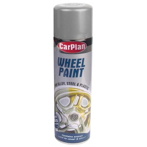 Carplan Silver wheel paint for alloy steel and plastic wheel trims