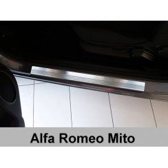 Stainless steel door sill plate protectors for Alfa Romeo Mito 2008>