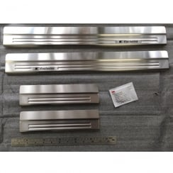 Stainless steel sill protectors for Nissan X-Trail July 2014 onwards
