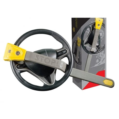 Stoplock airbag and 4x4 vehicle steering wheel lock