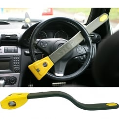 original steering wheel lock immobiliser with LED warning light built in