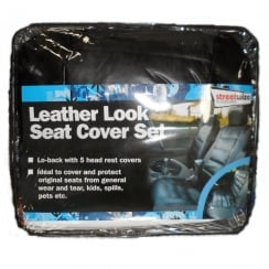 Car Leather look seat cover set