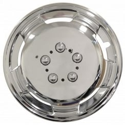 chrome deep dish 15 inch van wheel trims