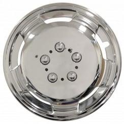chrome deep dish 15 inch van wheel trims