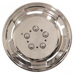 chrome effect 16 inch extra deep dish van wheel trims