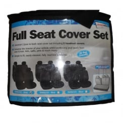 Full grey car seat cover set (Airbag friendly)