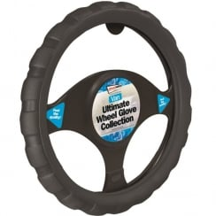 sports grip black van steering wheel cover