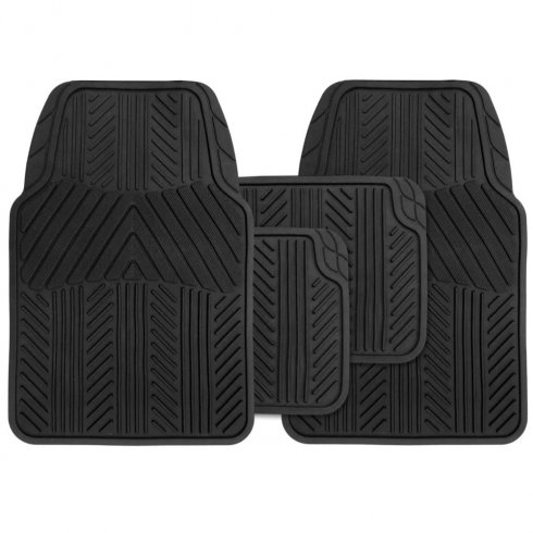 universal rubber car mats set of four mats