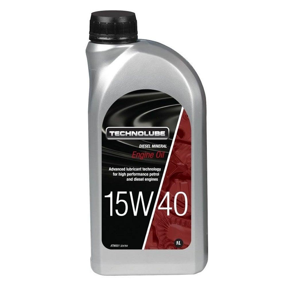 Technolube engine oil 15w40 diesel mineral 1 litre for Best diesel motor oil brand