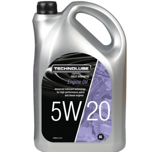 Technolube car engine oil 5w20 fully synthetic 5 litre Ford M2C 948-B