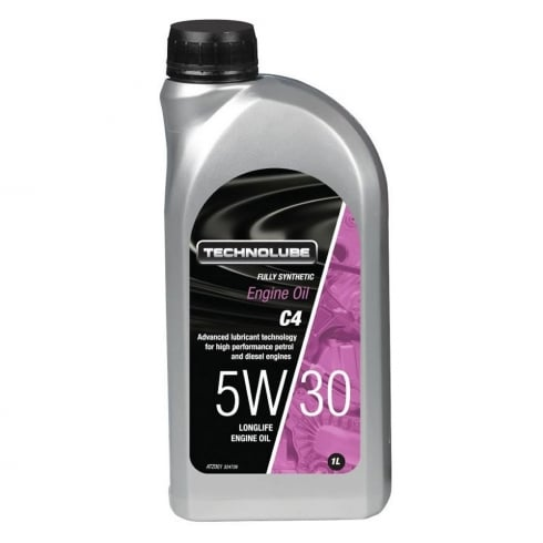 Technolube car engine oil 5w30 C4 fully synthetic 1 litre
