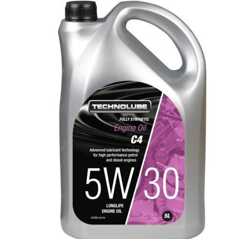 Technolube car engine oil 5w30 C4 fully synthetic 5 litre RN0720 / MB 226-51