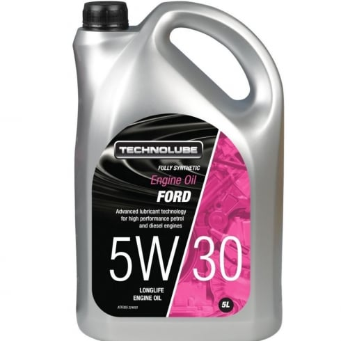 Technolube car engine oil 5w30 Ford fully synthetic 5 litre Ford M2C 913-D