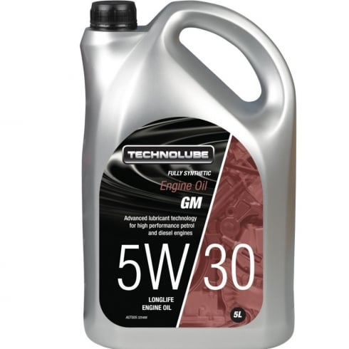 Technolube car engine oil 5w30 GM fully synthetic 5 litre GM-LL-A/B-025 / RN 0700/0710