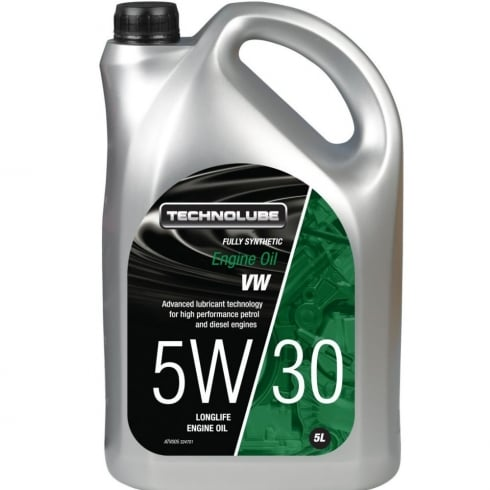 Technolube Engine Oil 5w30 Vw Fully Synthetic 5 Litre