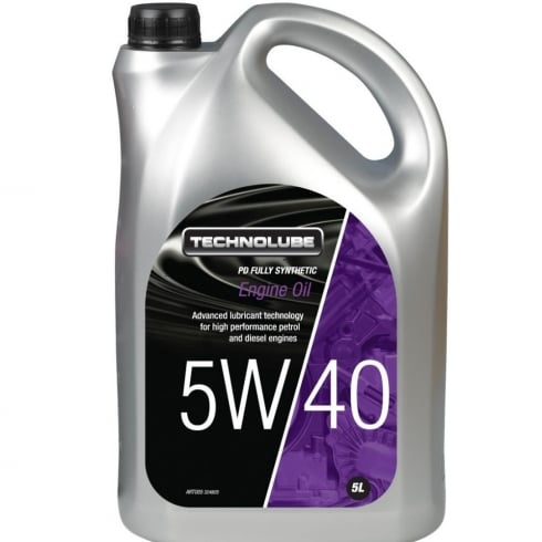 Technolube car engine oil 5w40 PD fully synthetic 5 litre VW 502-00 / 505-01 PD