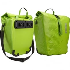 Pack n Pedal Pair of large Shield pannier bags - Chartreuse