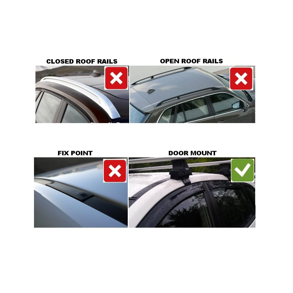 Ford Fiesta Roof Rack >> Thule Roof Bars for Ford Fiesta 5 door MK7 hatchback from Direct Car Parts