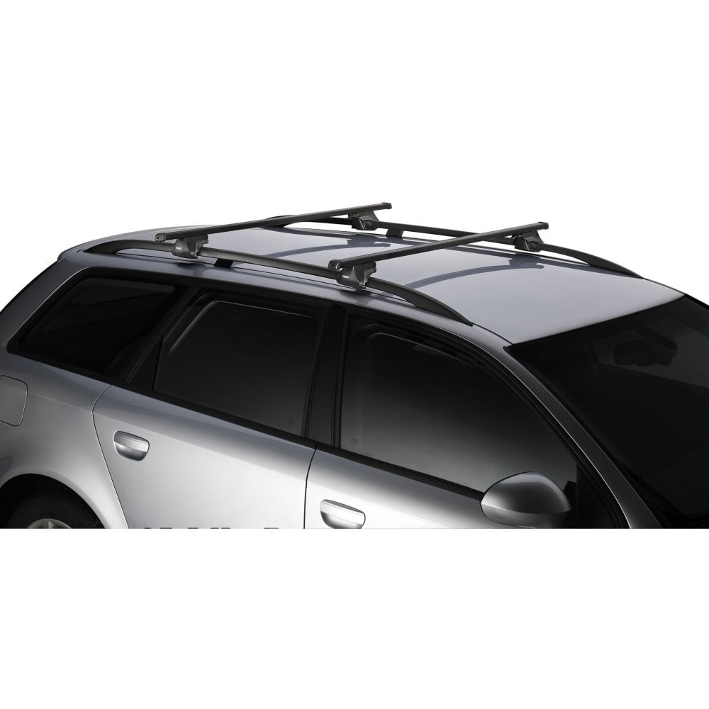 Thule SmartRack Universal Roof Bars For BMW X5 08 2013 With Raised Roof  Rails
