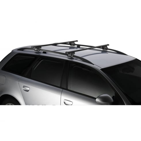 Thule SmartRack universal roof bars for Fiat Doblo Malibo 00-2009 with raised roof bars