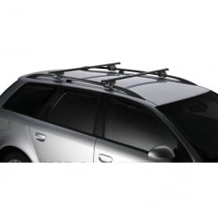 Thule SmartRack universal roof bars for Fiat Panda 03-2011 with raised roof bars