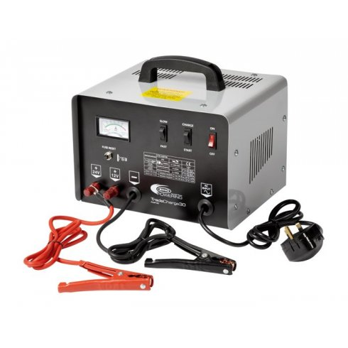 TradeCharge 30 amp professional battery charger with 150 amp jump starter