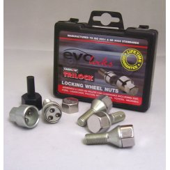 Evo locking wheel bolts M12 x 1.25 thread some Renault applications
