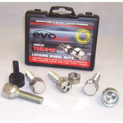 Evo locking wheel bolts M12 x 1.5 40mm thread with radius seat - Mercedes fitment