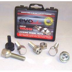 Evo locking wheel bolts M12 x 1.5 40mm thread with radius seat - Mercedes fitment