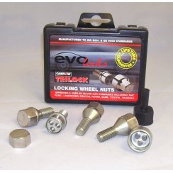 Evo locking wheel bolts M12 x 1.5 - Vauxhall fitment